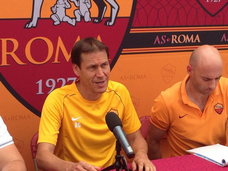 Rudi Garcia in conferenza stampa a Denver