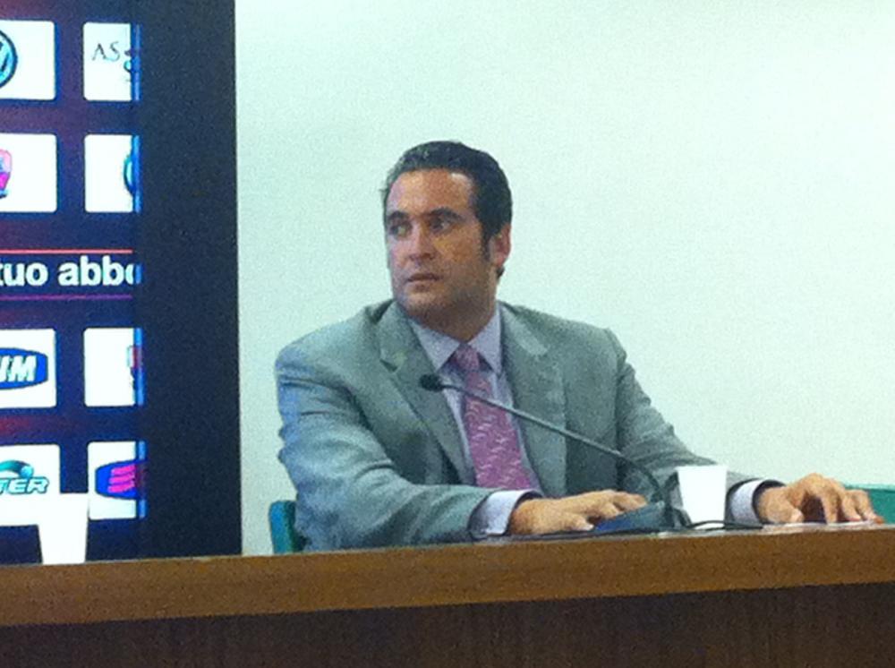 Italo Zanzi  alla conferenza stampa di presentazione di Gervinho allo stadio Olimpico