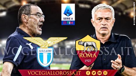 Maurizio Sarri e José Mourinho nella copertina di Vocegiallorossa.it di Lazio-Roma