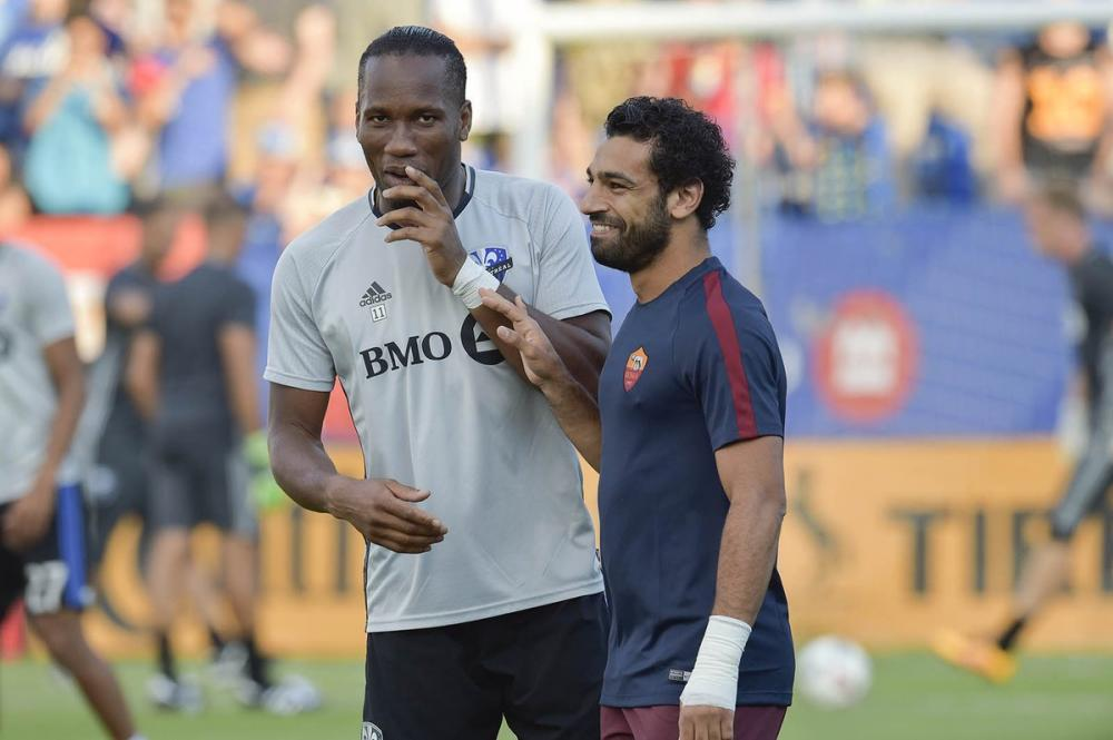 Didier Drogba e Mohamed Salah