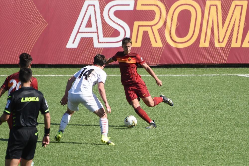 Eric Wilgot Marshage (AC Milan U18), Giacomo Faticanti (AS Roma U189