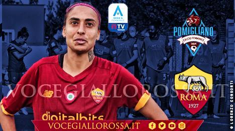 Andressa nella copertina di Calcio Pomigliano-Roma