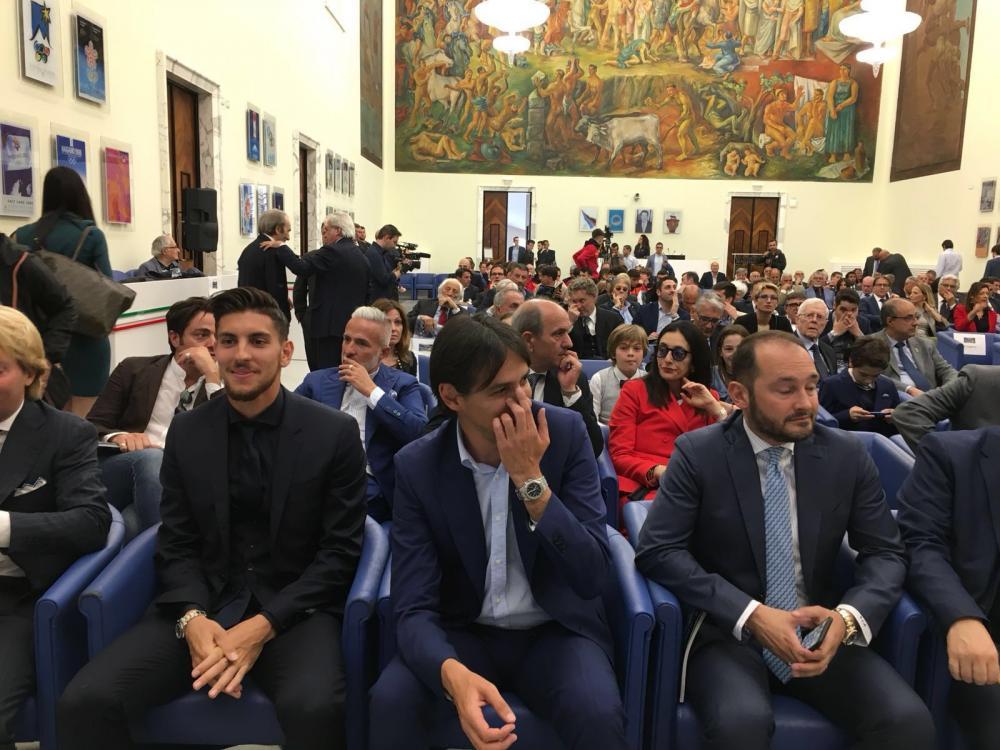 Pellegrini alla premiazione del trofeo Beppe Viola