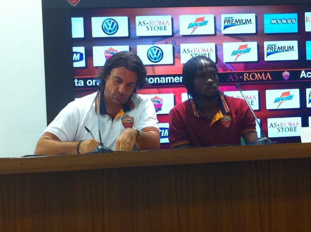 Conferenza stampa di presentazione di Gervinho allo stadio Olimpico